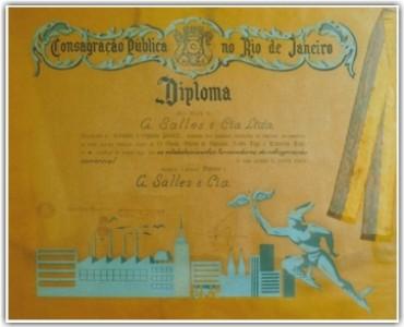 A Salles Engenharia Diploma de Consagração Pública do Rio de Janeiro-1954