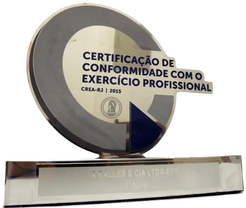 A Salles Engenharia Certificação de Conformidade Profissional CREA-RJ 2015